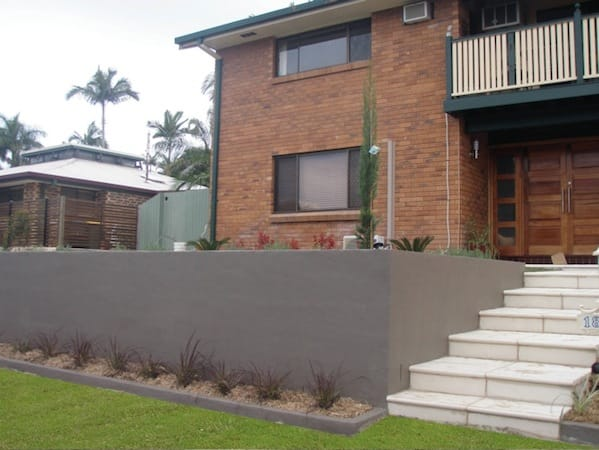Rendered walls at Mt Ommaney